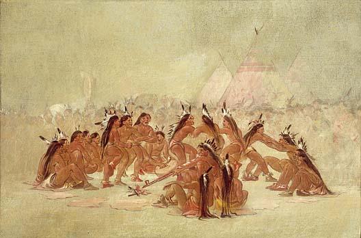 Pipe Dance, Assiniboine, 1835–37